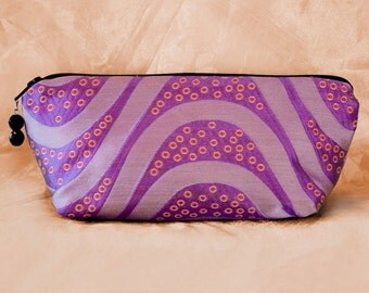 PURPLE WAVE Makeup Bag