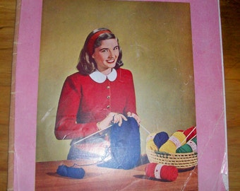 Learn to  KNIT J.P.Coats Book No 234  c1948 pattern & instruction booklet
