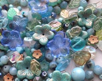 Flora Botanica Bead Mix - Gypsy Jade - Czech Glass Beads 2 oz