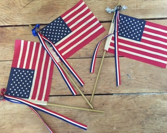 Decorative Embellished American Flags