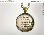 ON SALE Mother Definition : Glass Dome Necklace, Pendant or Keychain Key Ring. Gift Present metal round art photo jewelry by HomeStudio
