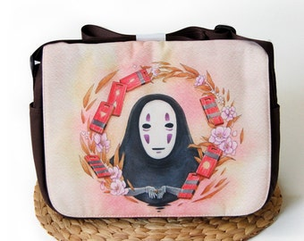 No Face Spirited Away Bath House Messenger Bag