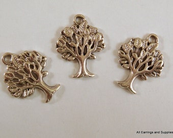 10 Silver Tree Charm Antique Silver Tree of Life LF/NF/CF 21x17mm - 10 pc - DC3009-AS10-M