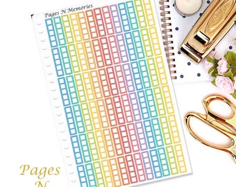 Rainbow Checklist Planner Stickers/ Plum Paper/ Family Planner/ PNM Colors/ Functional Stickers/ List/  #119