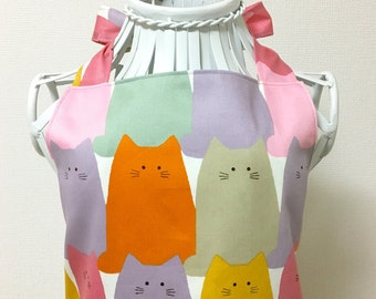 Apron / Full Apron / Dress Apron --- Fat Cat - Colorful