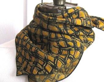 rayon Scarf . modern art scarf . rayon bandana . 50s rayon bandana . 50s scarf