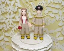 Fireman firefighter wedding cake topper
