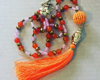 Tangerine Buddha Necklace