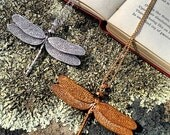 Dragon Fly Necklace Bronze (large)