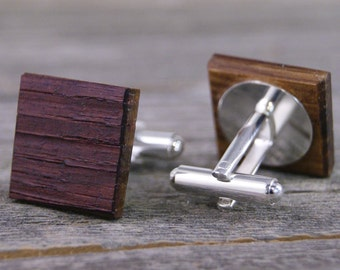 Wine Barrel Oak Wood Cufflinks
