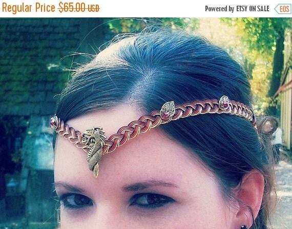ON SALE Dragon Lady Circlet Crown Custom Colors