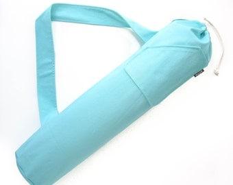 Yoga Mat Bag. Gift for Women. Mint Yoga Mat Tote Bag. Yoga Accessories. Yoga Gear. Yoga Mat Holder. Yoga Mat Carrier. Yoga Gifts for Her