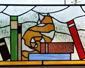"Retail Piece ""Cat with books"" (R-14)"