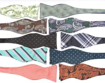 One Dozen Self Tie Bow Ties. 12 Freestyle Bow Ties