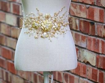 Bridal sash, AUGUSTA, wedding dress sash, wedding belt, bridal belt, wedding dress sash and belt, statement belt