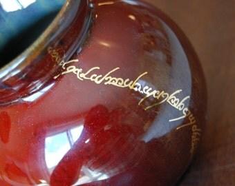 The Soil of the Shire Runs Deep Elvish Pottery Vase
