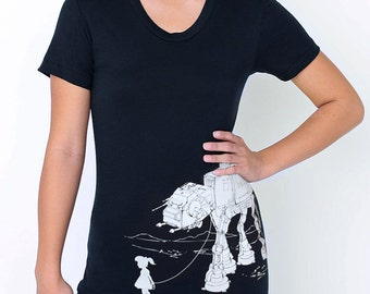My Star Wars AT-AT Pet - American Apparel Womens T-Shirt ( Star Wars shirt )