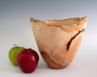 Wood Turned Wood Bowl - Elm Burl Wood Turned Bowl - Wood Bowl - Hand Turned Wood Bowl - Wedding Gift - Anniversary Gift - Wooden Elm Bowl