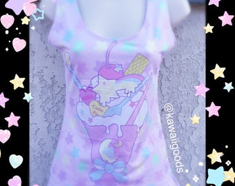 Melty Sweets Tank Top, Fairy Kei Top, Pastel Tank Top