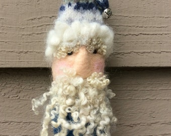 Father Christmas Needle Felted Ornament