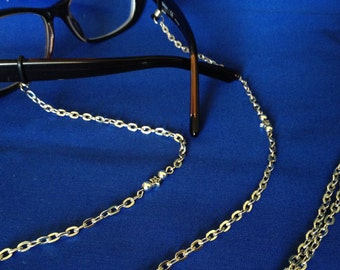 silver star eyeglasses chain