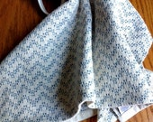 Handwoven Cotton Kitchen Towel, Chef's Towel, Chevron Towel, Blue and White by Frederick Avenue