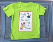 Boys Girls Dr Seuss shirt Green Eggs and Ham Cat in the Hat 4/5 6/7 8/10 12/14 ready to ship