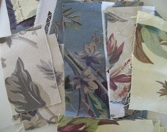 Barkcloth Scraps Mid Century Tropical Floral Full Swing Textiles