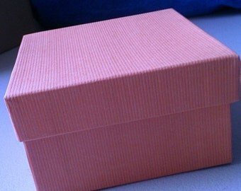 Summer Stock Up Sale 10 Pack 3.5 X 3.5 X 2 Inch Light Pink Size Cotton Filled Jewelry Presentation Gift Boxes