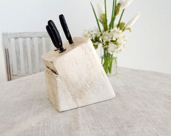 Miniature Knife Block with Metal Carving SET  -  Solid Wood Block -  1:6 Scale Realistic Miniatures for Fashion Dolls and Action Figures