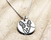 Tiny Rat Terrier necklace, dog jewelry, Rat Terrier jewelry, remembrance necklace