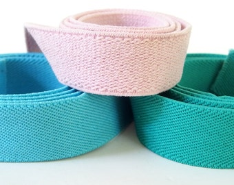 Vintage 1980's Bright Pastel Elastic Belting