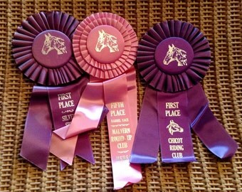 Vintage 1966 Horse Show Ribbons
