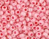 11/0 Ceylon Impatiens Pink Toho Glass Seed Beads 2.5 inch tube 8 grams TR-11-911