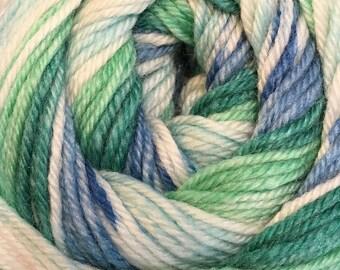 Blue Green Cascade Heritage Prints Yarn 437 yards Super Fine Wool Nylon Sock Yarn Color 44
