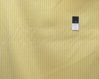 Dena Designs LIDF006 Sunshine Stripe Yellow Linen Fabric By The Yard