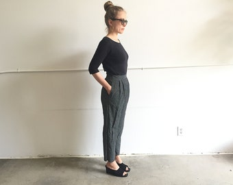 Vintage High Waist Rayon Trousers.