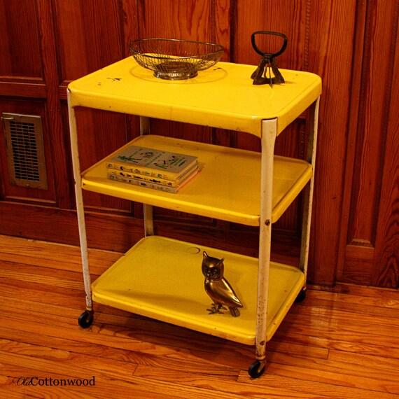 Vintage Metal Cart Serving Cart Kitchen Cart Bar Cart