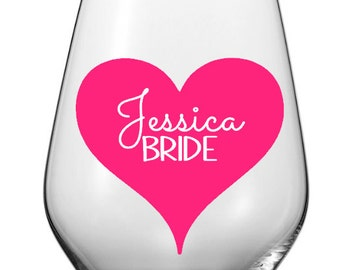 DIY Personalized Wine Glass Decals, Wedding Party Wine Glasses, Custom Bridal Party Wine Decals, Glasses NOT Included