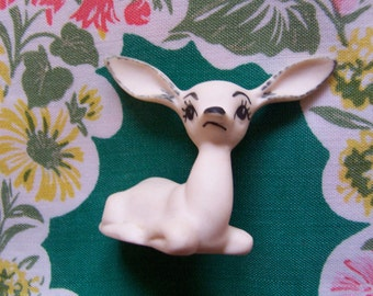 sweet little white porcelain deer figurine