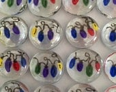 Christmas lights hand painted glass gems party favors mini art stocking stuffers decorations