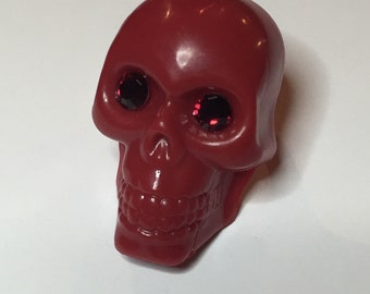 Giant Red Skull Poison Ring