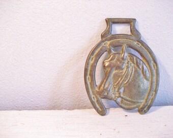 Vintage Brass Horse Equestrian Style Door Knocker