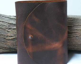 5 Signature Brown Leather Journal, Planner, Diary, Art, Writing, Travel 6 X 5