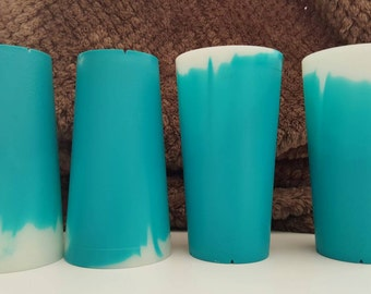 Vintage Stacking Cups Teal