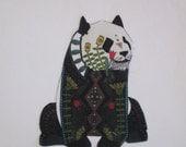 """Panda Bear Applique Iron On 7"""""""