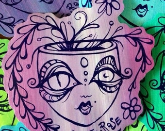 Tara's Custom Painted Pot Head