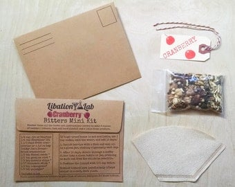 Cranberry DIY Cocktail Bitters Mini Booster Kits