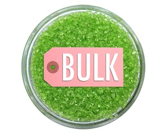 Lime Green Sanding Sugar BULK (1lb) - lime green fine sugar for decorating cupcakes, cakes, cakepops, and cookies.
