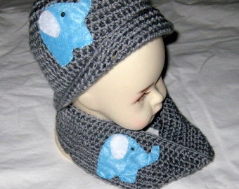 Baby Boy Cap and infinity Scarf 3-6 Month  New